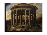 View of Temple, Painting by Viviano Codazzi (Ca 1604-1670), Italy, 17th Century Giclee Print by Viviano Codazzi