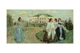 A Walk at Sunset, 1903 Giclee Print by Viktor Elpidiforovich Borisov-musatov