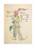 The Hollyhock from the 'Flora's Feast' Giclee Print by Walter Crane