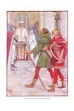 Robin Hood and Alan-A-Dale, C.1920 Giclee Print by Walter Crane