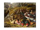 King Lear and the Fool in the Storm, C.1851 Giclee Print by William Dyce