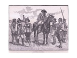 Roundhead Soldiers Ad 1645 Giclee Print by Walter Stanley Paget