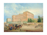 View of the Nikolayevsky Palace, St. Petersburg, 1868 Giclee Print by Vasili Semenovich Sadovnikov
