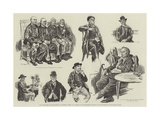 Old Hand-Frame Stocking-Makers of Leicester Giclee Print by William Douglas Almond