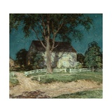Old Homestead Connecticut, C.1914 Giclee Print by Willard Leroy Metcalf