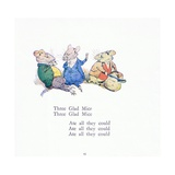 Three Glad Mice, Three Glad Mice, Ate All That They Could Giclee Print by Walton Corbould