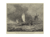 Dutch Boats on the Maas, Running for Rotterdam Giclee Print by Walter William May