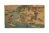 Kawa De No Sentaku Giclee Print by Utagawa Toyokuni