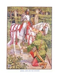 Little John and the Knight, C.1920 Giclee Print by Walter Crane