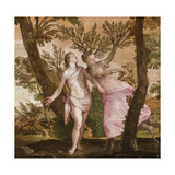 Apollo and Daphne, C.1560-65 Giclée-tryk af  Veronese