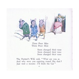 Three Poor Mice, Three Poor Mice, Soon Changed their Tune Giclee Print by Walton Corbould