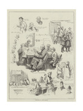 Sketches at a Free Library Giclee Print by William Henry Charles Groome