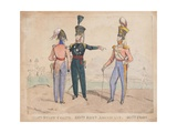 Royal Staff Corps, 60th Royal Americans, 40th Foot, 1828 Giclee Print by William Heath