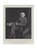 The Right Honourable W E Gladstone, Mp, in His Room at Downing Street Giclee Print by William Biscombe Gardner