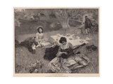 A River Picnic Giclee Print by William Hatherell