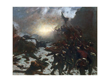 Charging of the Battery, 1882 Giclee Print by William Gilbert Gaul