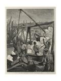 London Sketches, Landing Norwegian Ice Giclee Print by William Bazett Murray