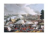 The Centre of the British Army in Action at the Battle of Waterloo Giclee Print by William Heath