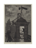 Measuring the Wind, a Sketch at the Royal Observatory, Greenwich Giclee Print by William Bazett Murray