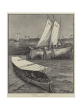 Boats for the Nile Expedition Giclee Print by William Bazett Murray