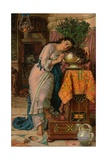 Isabella and the Pot of Basil, 1867 Giclee Print by William Holman Hunt