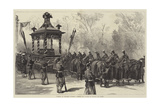 Funeral of President Garfield, Funeral Car Waiting to Receive the Coffin Giclee Print by William Heysham Overend