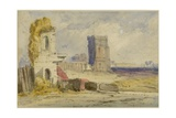 Landscape with Ruins Giclee Print by William Callow