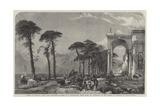 Giorno Di Mercato, Luino, Lago Maggiore Giclee Print by William Harding Collingwood-Smith