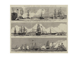 Sketches at the Naval Review at Spithead Giclee Print by William Edward Atkins