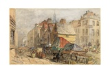 The Bigg Market, Newcastle Upon Tyne Giclee Print by William Bell Scott