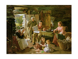 Cottage Interior, 1868 Giclee Print by William Henry Midwood