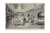 The Queen's Christmas, the Kitchen, Windsor Castle Giclee Print by William 'Crimea' Simpson