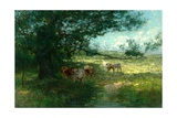 In the Meadows, Evening Giclee Print by William Charles Estall