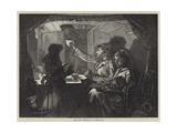 Canal Life, Tea-Time on a Monkey Boat Giclee Print by William Bazett Murray