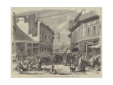 Street and Bazaar in Peshawur Giclee Print by William Carpenter