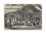 Interior of a Sikh Temple at Umritzir, Reading the Grunt'H Giclee Print by William Carpenter