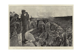 The Herald of the Dawn, the First Shot of the Day Fired by a Naval Gun at Ladysmith Giclee Print by William Hatherell