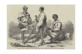 The Mutiny in India, Goorkahs of the 66th Regiment in their National Costume Giclee Print by William Carpenter