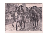 Arrival of Charles at Oxford Ad 1681 Giclee Print by William Barnes Wollen