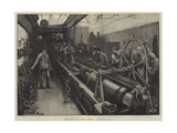 Testing Chain Cables, Chatham Dockyard, Slacking Off Giclee Print by William Bazett Murray
