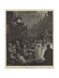 New-Year's Eve in Edinburgh Giclee Print by William Bazett Murray