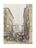 The Rialto, August 1846 Giclee Print by William Callow