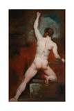Study of Nude Man, C.1807-49 Giclee Print by William Etty