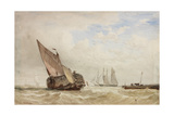 The Hayboat Giclee Print by William Clarkson Stanfield