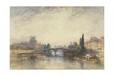 View of the Pont Royal Giclee Print by William Callow