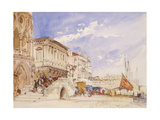 Riva Degli Schiavoni, Venice, 1846 Giclee Print by William Callow