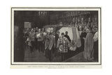 Queen Victoria's Funeral, Royal Mourners at the Service in St George's Chapel, Windsor Giclee Print by William Hatherell