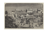 Lucknow, Bazaar over the Old Bridge Near the Goomtee Giclee Print by William Carpenter