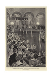 The Reception at the India Office, the Prince of Wales Receiving the Indian Officers Giclee Print by William Hatherell