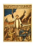 Knights of Columbus, Published 1917 Giclee Print by William Balfour Kerr